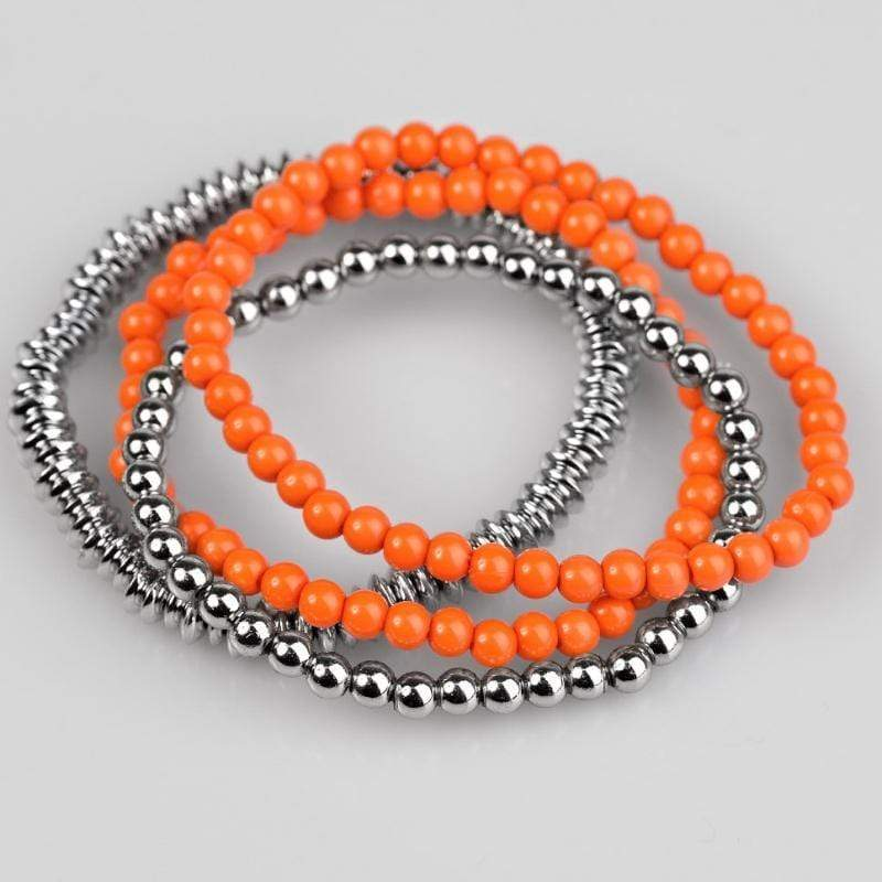 Wicked Wonders VIP Bling Bracelet Color Coordination Orange Set of Stretchy Bracelets Affordable Bling_Bling Fashion Paparazzi