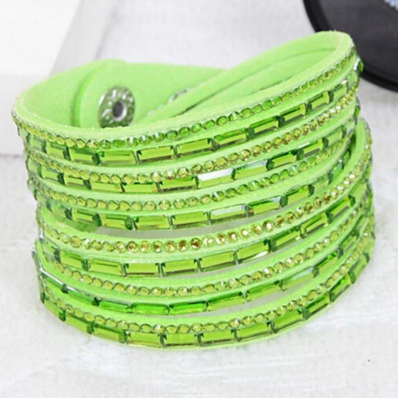 Wicked Wonders VIP Bling Bracelet Crystal Explosion Bright Green Snap Wrap Bracelet (or Choker Necklace) Affordable Bling_Bling Fashion Paparazzi