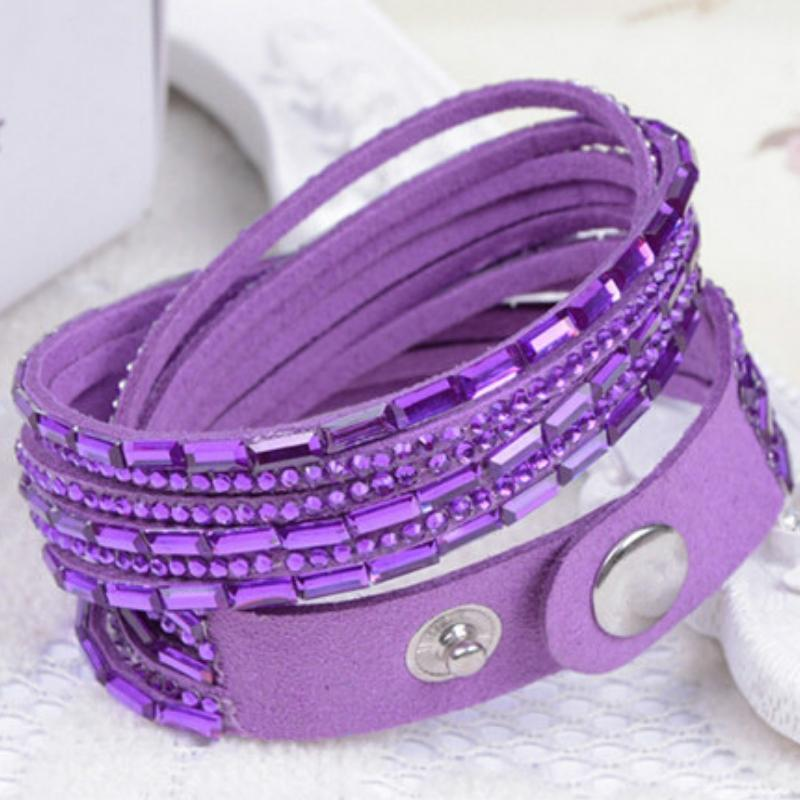 Wicked Wonders VIP Bling Bracelet Crystal Explosion Purple Snap Wrap Bracelet (or Choker Necklace) Affordable Bling_Bling Fashion Paparazzi