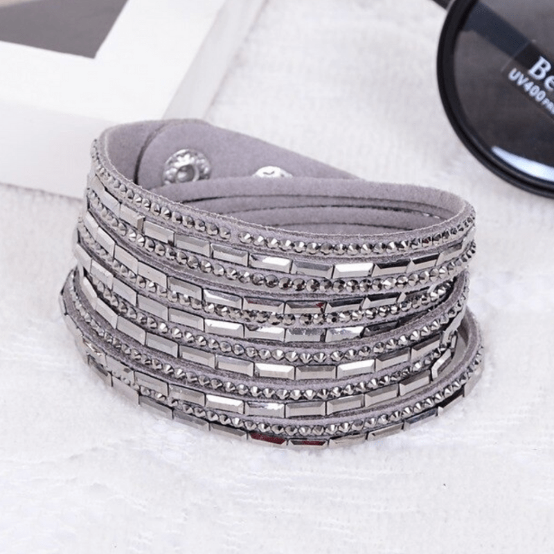 Wicked Wonders VIP Bling Bracelet Crystal Explosion Silver Snap Wrap Bracelet (or Choker Necklace) Affordable Bling_Bling Fashion Paparazzi