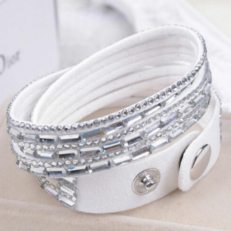Wicked Wonders VIP Bling Bracelet Crystal Explosion White Snap Wrap Bracelet (or Choker Necklace) Affordable Bling_Bling Fashion Paparazzi