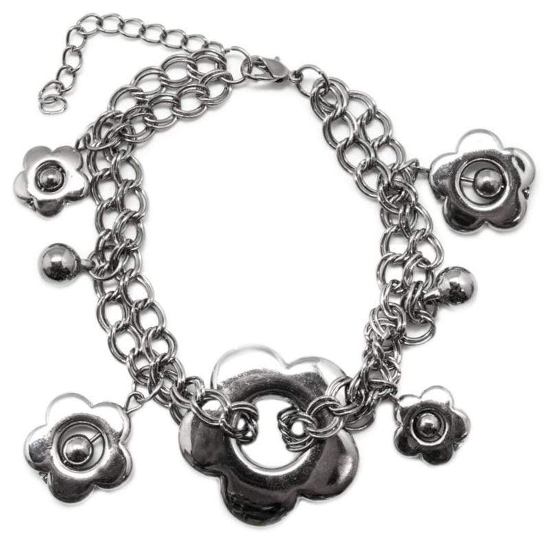 Wicked Wonders VIP Bling Bracelet Dance of the Daisies Black Bracelet Affordable Bling_Bling Fashion Paparazzi