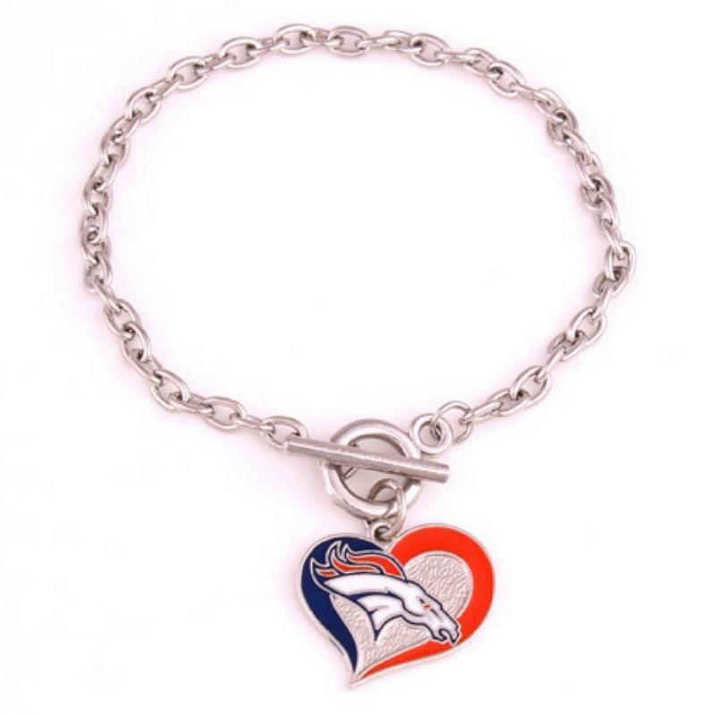 Wicked Wonders VIP Bling Bracelet Denver Broncos Silver Bracelet Affordable Bling_Bling Fashion Paparazzi