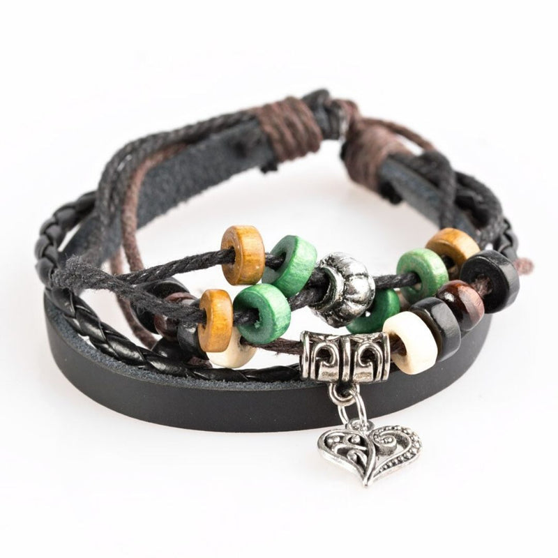 Wicked Wonders VIP Bling Bracelet Desert Heart Green Urban Drawstring Bracelet Affordable Bling_Bling Fashion Paparazzi