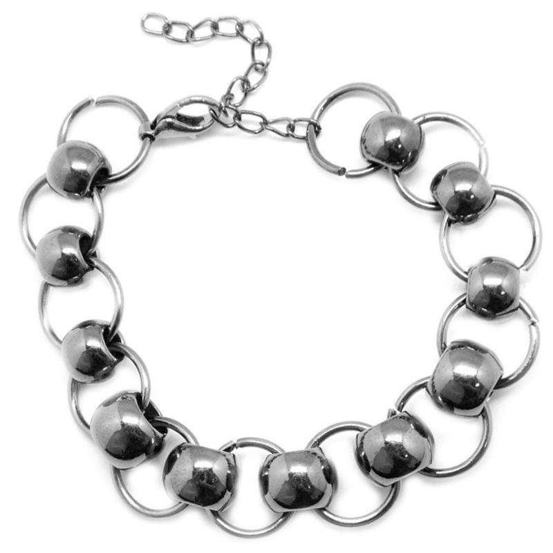 Wicked Wonders VIP Bling Bracelet Don't Take That Tone With Me Gunmetal Black Bracelet Affordable Bling_Bling Fashion Paparazzi