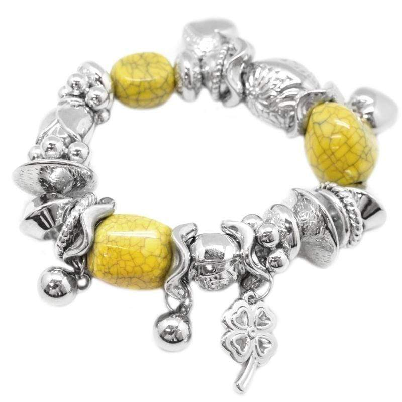Wicked Wonders VIP Bling Bracelet Extending An Invite Yellow Stretchy Bracelet Affordable Bling_Bling Fashion Paparazzi