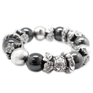 Wicked Wonders VIP Bling Bracelet Fire and Brimstone Black Stretchy Bracelet Affordable Bling_Bling Fashion Paparazzi