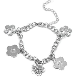 Wicked Wonders VIP Bling Bracelet Flower Delivery Silver Bracelet Affordable Bling_Bling Fashion Paparazzi