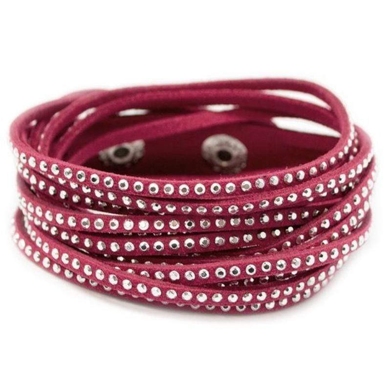 Wicked Wonders VIP Bling Bracelet Go Getter Pink Snap Wrap Bracelet Affordable Bling_Bling Fashion Paparazzi