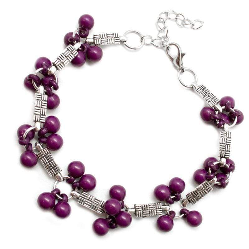 Wicked Wonders VIP Bling Bracelet Hakuna Matata Purple Bracelet Affordable Bling_Bling Fashion Paparazzi