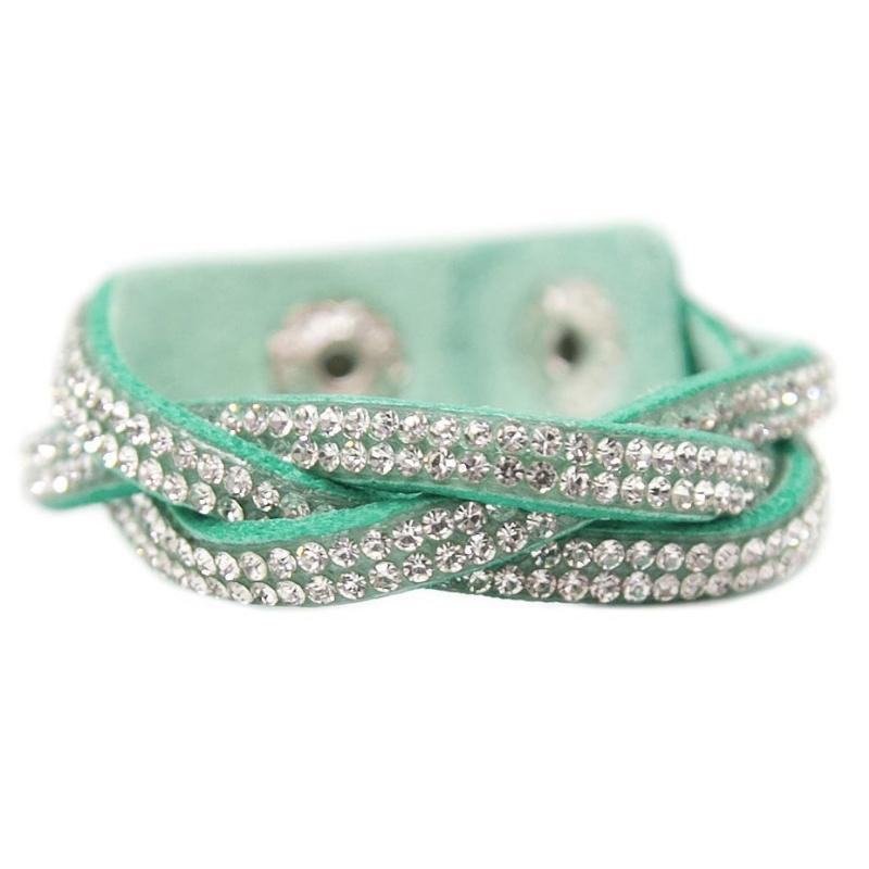Wicked Wonders VIP Bling Bracelet Haters Gonna Hate Green Snap Closure Bracelet Affordable Bling_Bling Fashion Paparazzi