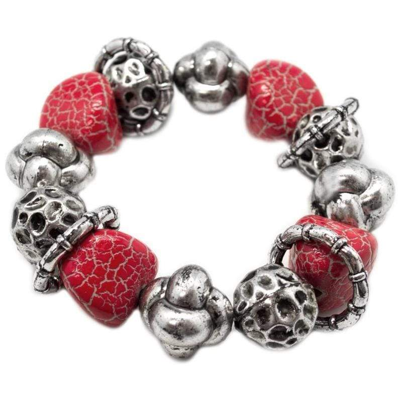 Wicked Wonders VIP Bling Bracelet Hot Lava Red Stretchy Bracelet Affordable Bling_Bling Fashion Paparazzi