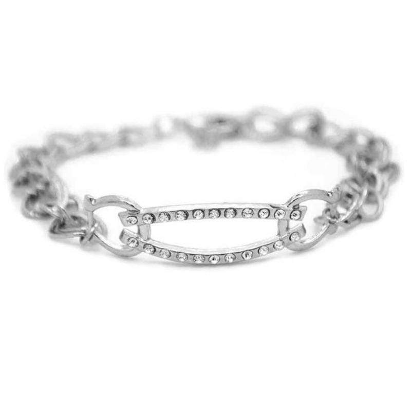 Wicked Wonders VIP Bling Bracelet I Adore You Silver and White Rhinestone Bracelet Affordable Bling_Bling Fashion Paparazzi