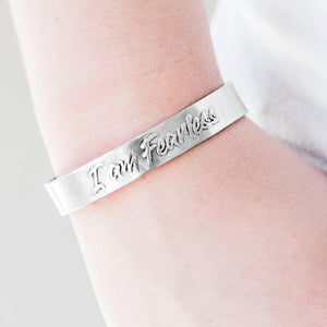 Wicked Wonders VIP Bling Bracelet I Am Fearless Silver Cuff Bracelet Affordable Bling_Bling Fashion Paparazzi