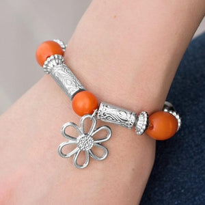 Wicked Wonders VIP Bling Bracelet I Stand Collected Orange Bracelet Affordable Bling_Bling Fashion Paparazzi