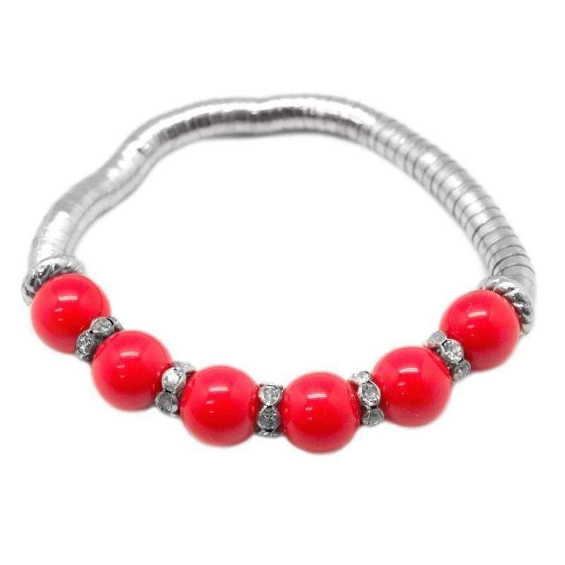 Wicked Wonders VIP Bling Bracelet If I Were a Rich Girl Red Stretchy Bracelet Affordable Bling_Bling Fashion Paparazzi