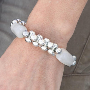 Wicked Wonders VIP Bling Bracelet Jinx White Stretchy Bracelet Affordable Bling_Bling Fashion Paparazzi