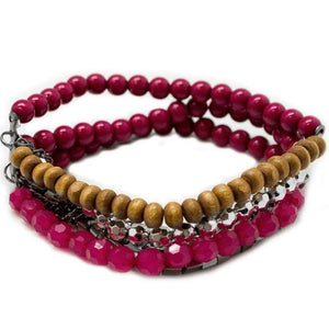 Wicked Wonders VIP Bling Bracelet Just BEAD Happy Pink Urban Bracelet Affordable Bling_Bling Fashion Paparazzi