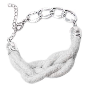 Wicked Wonders VIP Bling Bracelet KNOT-ical Style White Bracelet Affordable Bling_Bling Fashion Paparazzi