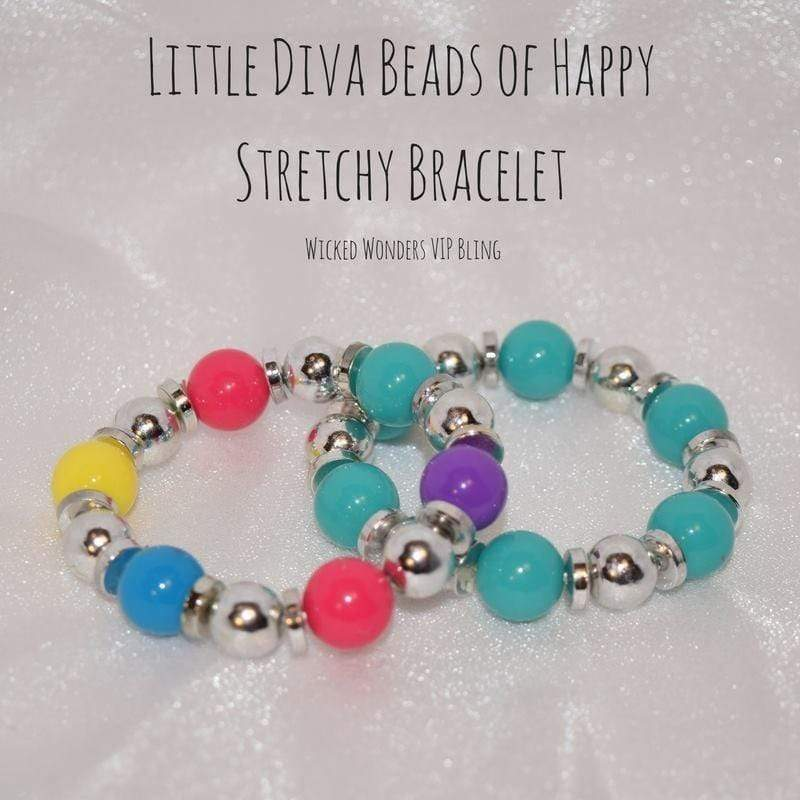 Wicked Wonders VIP Bling Bracelet Little Diva Beads of Happy Stretchy Bracelet Affordable Bling_Bling Fashion Paparazzi