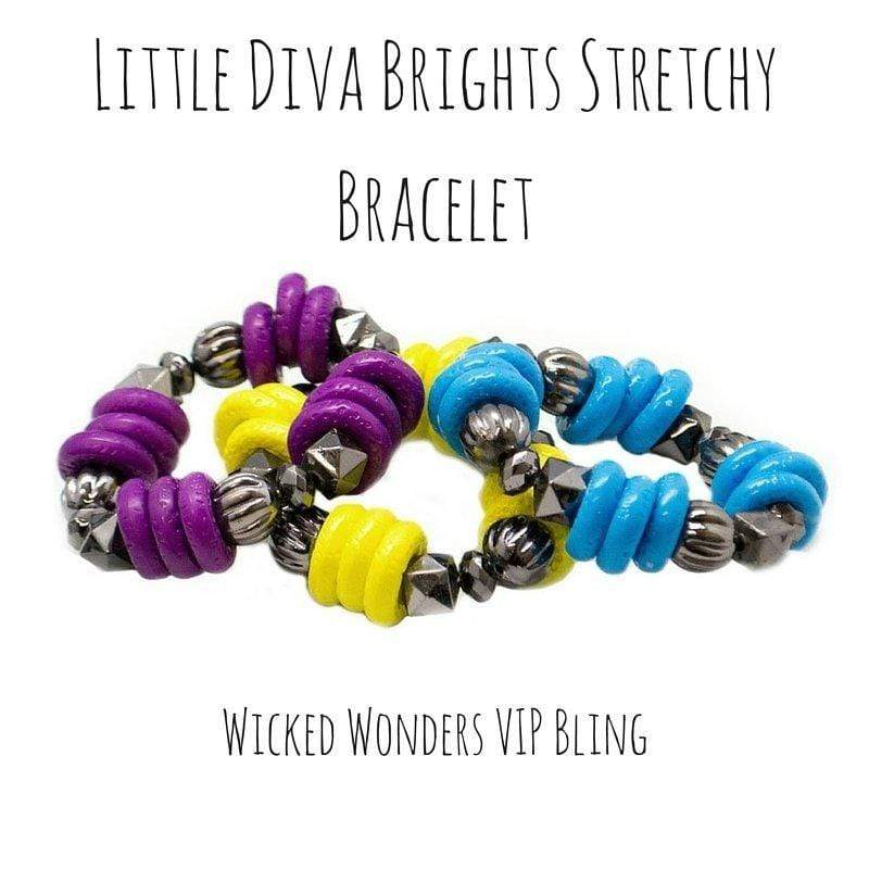 Wicked Wonders VIP Bling Bracelet Little Diva Brights Stretchy Bracelet Affordable Bling_Bling Fashion Paparazzi