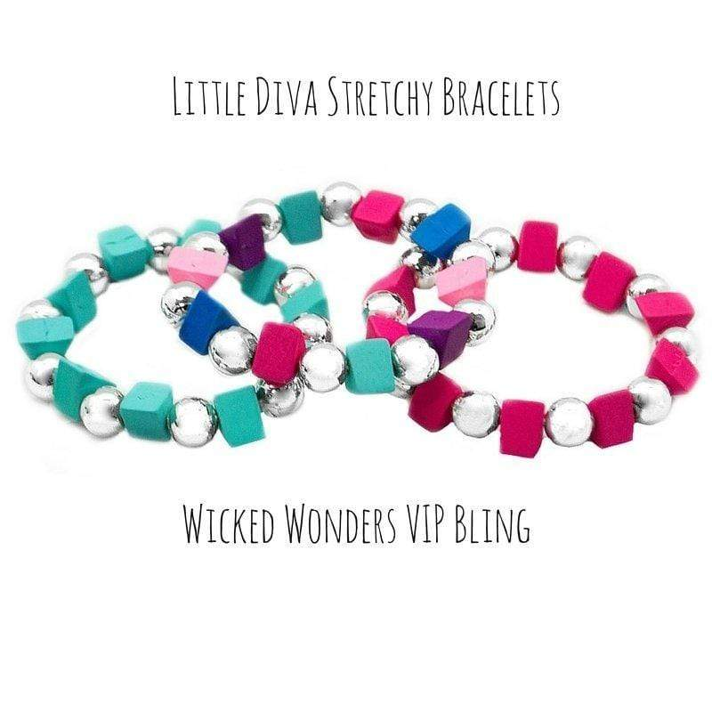 "Wicked Wonders VIP Bling Bracelet Little Diva ""Cubes"" Stretchy Bracelets Affordable Bling_Bling Fashion Paparazzi"