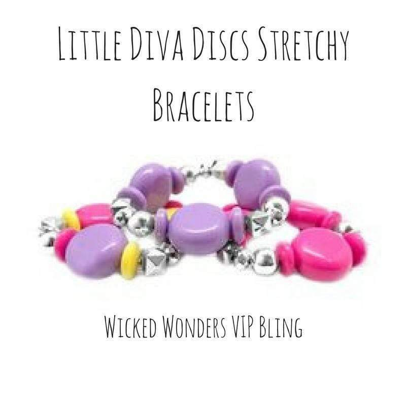 Wicked Wonders VIP Bling Bracelet Little Diva Discs Stretchy Bracelets Affordable Bling_Bling Fashion Paparazzi