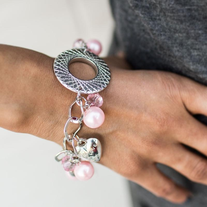 Wicked Wonders VIP Bling Bracelet Love Actually Pink Bracelet Affordable Bling_Bling Fashion Paparazzi