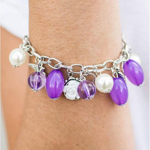 Wicked Wonders VIP Bling Bracelet Love Doves Purple Bracelet Affordable Bling_Bling Fashion Paparazzi