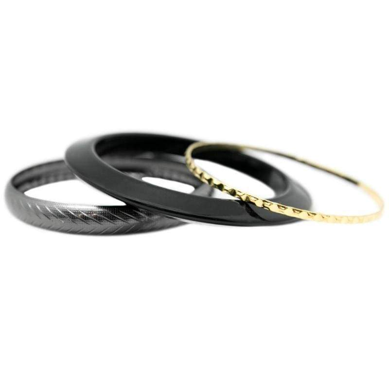 Wicked Wonders VIP Bling Bracelet Me Three! Black Bangle Bracelets Affordable Bling_Bling Fashion Paparazzi