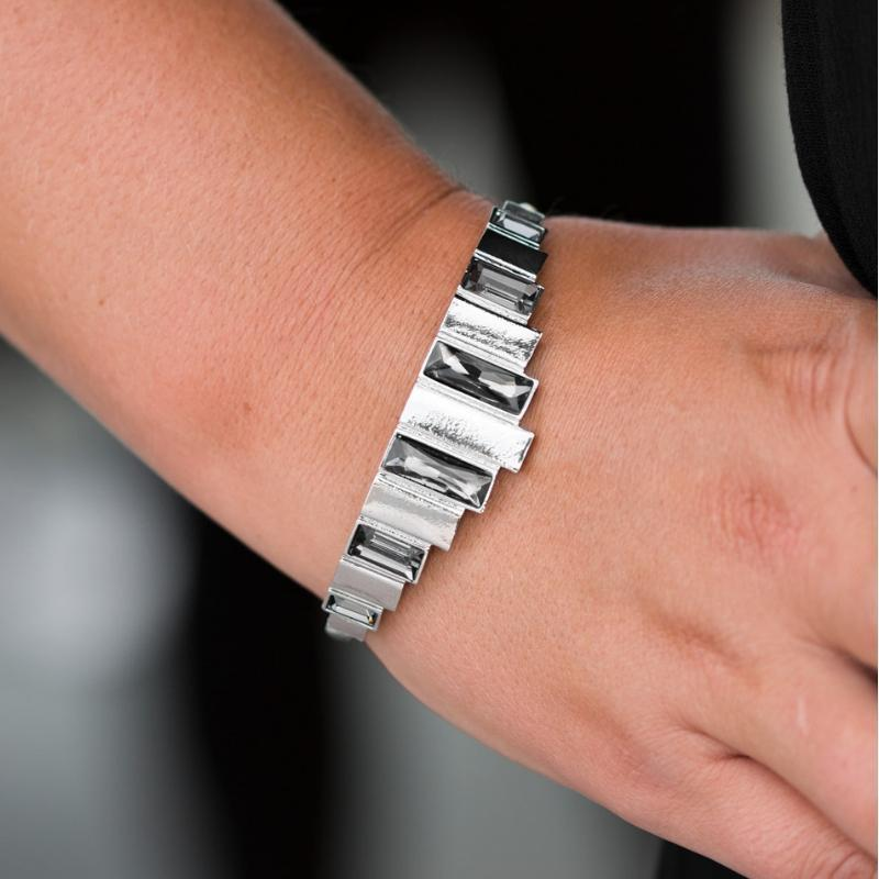 Wicked Wonders VIP Bling Bracelet Modern Metro Silver Squeeze Cuff Bracelet Affordable Bling_Bling Fashion Paparazzi