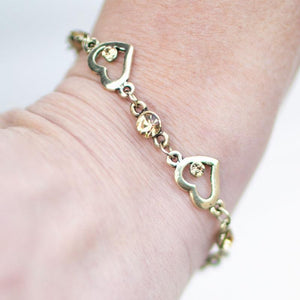 Wicked Wonders VIP Bling Bracelet My Heart Will Go On Brass Bracelet Affordable Bling_Bling Fashion Paparazzi