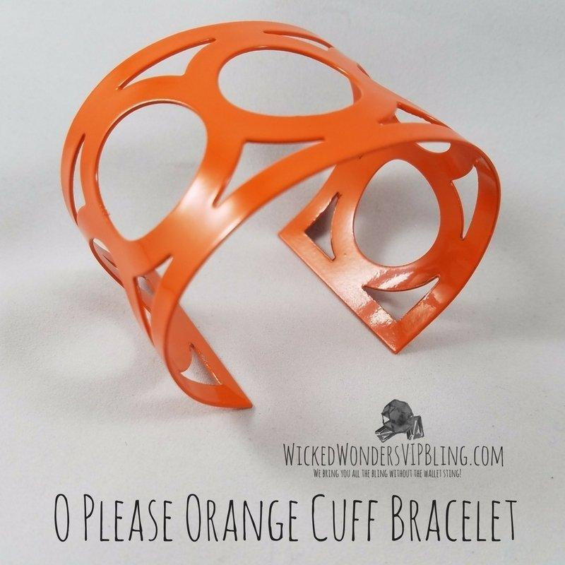 Wicked Wonders VIP Bling Bracelet O Please Orange Cuff Bracelet Affordable Bling_Bling Fashion Paparazzi