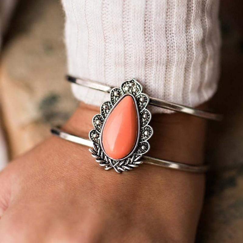 Wicked Wonders VIP Bling Bracelet On the Cusp Orange Cuff Bracelet Affordable Bling_Bling Fashion Paparazzi