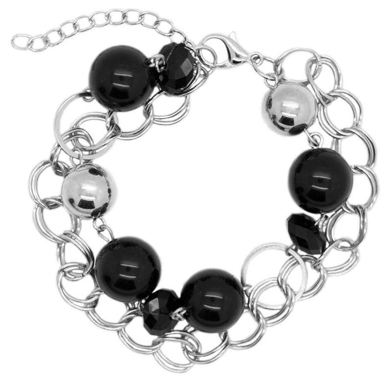 Wicked Wonders VIP Bling Bracelet One of the Classics Silver and Black Bracelet Affordable Bling_Bling Fashion Paparazzi