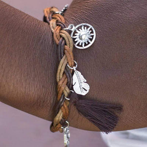 Wicked Wonders VIP Bling Bracelet Outdoor Enthusiast Brown Urban Bracelet Affordable Bling_Bling Fashion Paparazzi