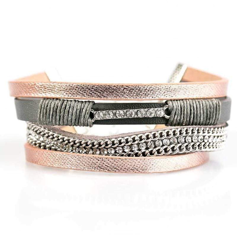 Wicked Wonders VIP Bling Bracelet Rise To The Challenge Silver Pink Bracelet Affordable Bling_Bling Fashion Paparazzi