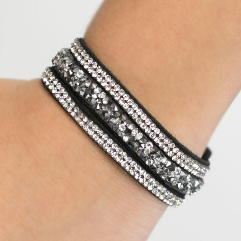 Wicked Wonders VIP Bling Bracelet Rock You Like a Hurricane BLING Snap Closure Bracelet Affordable Bling_Bling Fashion Paparazzi