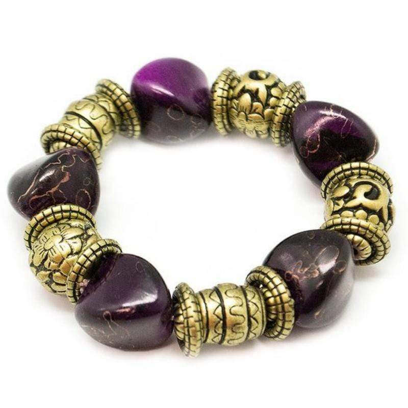 Wicked Wonders VIP Bling Bracelet Rock Your World Purple Stretchy Bracelet Affordable Bling_Bling Fashion Paparazzi