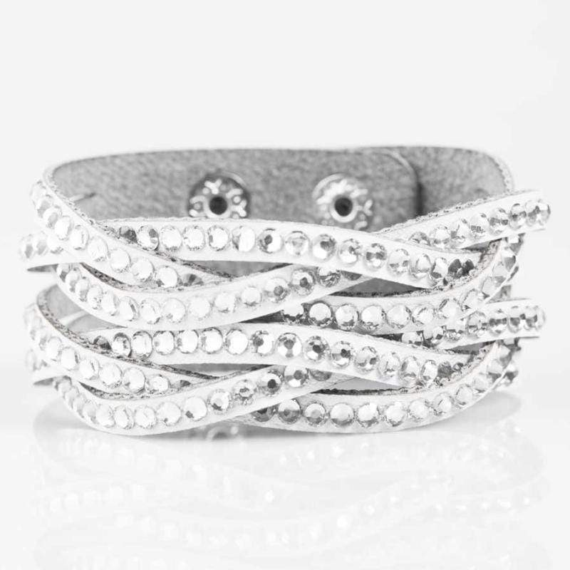 Wicked Wonders VIP Bling Bracelet Rocket Power White Snap Closure Bracelet Affordable Bling_Bling Fashion Paparazzi