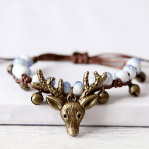 Wicked Wonders VIP Bling Bracelet Rustic Reindeer Blue Drawstring Bracelet Affordable Bling_Bling Fashion Paparazzi