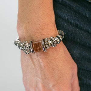 Wicked Wonders VIP Bling Bracelet Sea Siren Brown Stretchy Bracelet Affordable Bling_Bling Fashion Paparazzi
