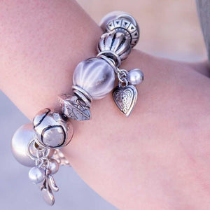Wicked Wonders VIP Bling Bracelet Shades of Gray Silver Stretchy Bracelet Affordable Bling_Bling Fashion Paparazzi