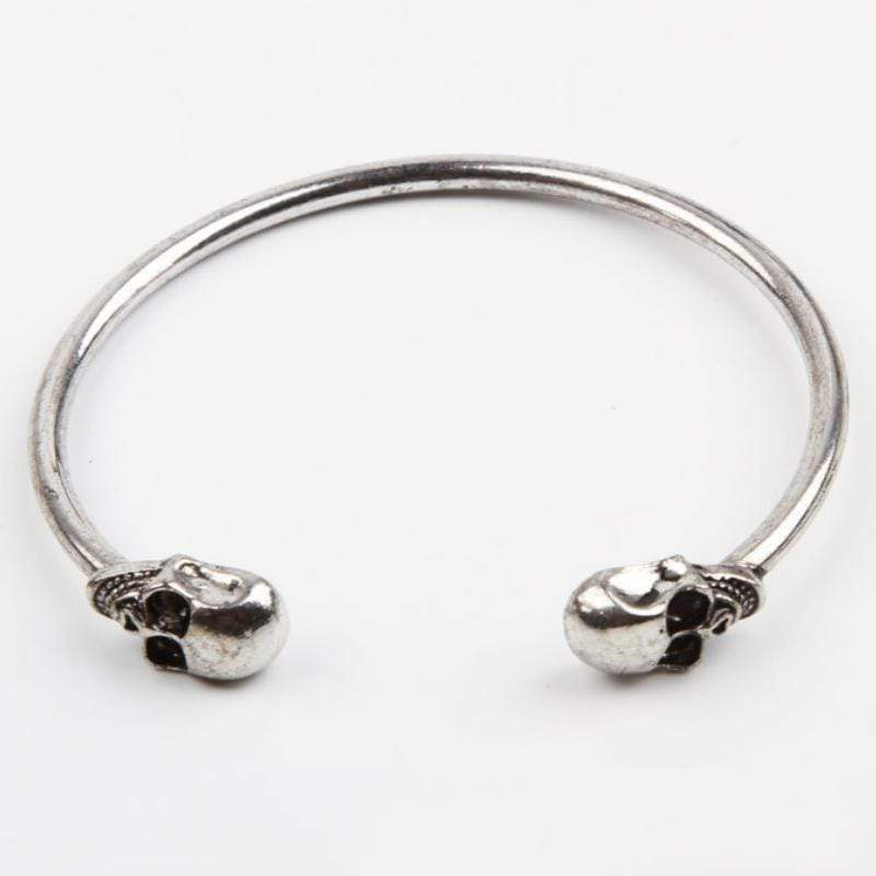 Wicked Wonders VIP Bling Bracelet Skull A-Wrist Silver Skinny Cuff Bracelet Affordable Bling_Bling Fashion Paparazzi