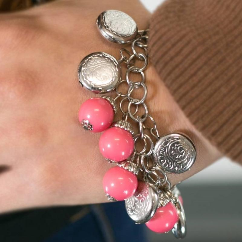Wicked Wonders VIP Bling Bracelet Something Old, Something New Pink Bracelet Affordable Bling_Bling Fashion Paparazzi