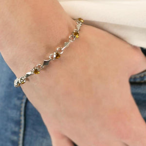 Wicked Wonders VIP Bling Bracelet Sparkle and Shine Dainty Brown Bracelet Affordable Bling_Bling Fashion Paparazzi