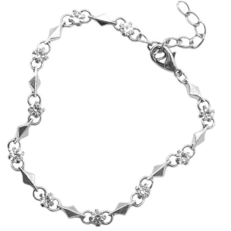 Wicked Wonders VIP Bling Bracelet Sparkle and Shine Dainty Silver and White Bracelet Affordable Bling_Bling Fashion Paparazzi