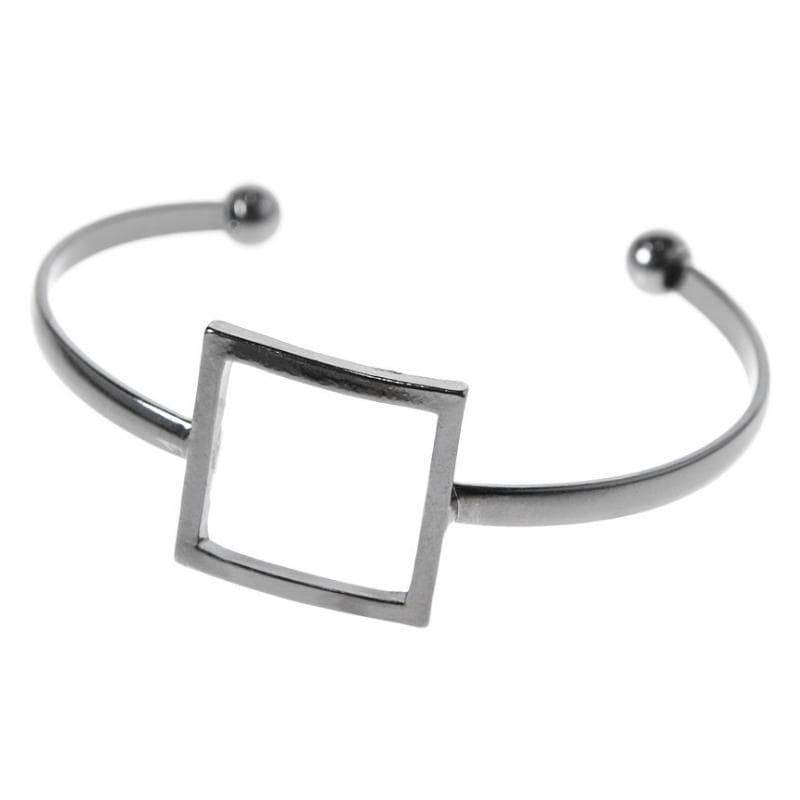 Wicked Wonders VIP Bling Bracelet Square One Black Skinny Cuff Bracelet Affordable Bling_Bling Fashion Paparazzi
