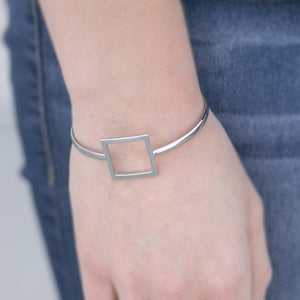 Wicked Wonders VIP Bling Bracelet Square One Silver Skinny Cuff Bracelet Affordable Bling_Bling Fashion Paparazzi