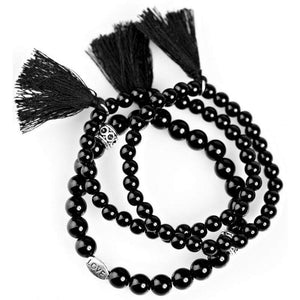Wicked Wonders VIP Bling Bracelet Studying Abroad Black Stretchy Bracelets Affordable Bling_Bling Fashion Paparazzi